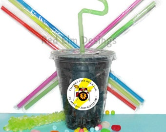 Music Party Cups, Band Cups, Kids Birthday Party Cups, 20 Cups, Rock Band Kids Party Cups, Straws and Lids, 12 Ounce Cups