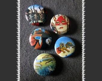 Salvador Dalí Magnets ~ 5-pack