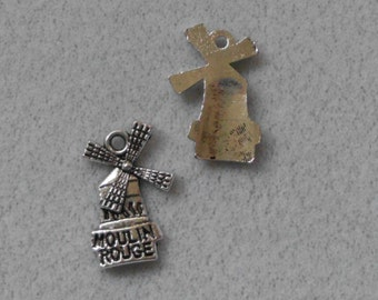 Silver Travel Moulin Rouge Windmill Charms