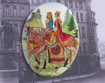 Porcelain plate Medieval Art, Limoges, France