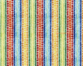 Sale - Colorful Stripes Fabric, Timeless Treasures Wild About You C4601, Striped Quilt Fabric, Red, Green, Blue, Yellow, Gold, Cotton