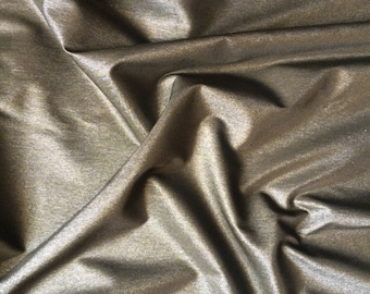 Dark Green Metallic Stretch Fabric 6 yard piece