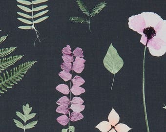 Blush Pink Upholstery Fabric - Sage Green Botanical Fabric for Furniture - Lavender Floral Upholstery Fabric - Black Pink Green Pillows