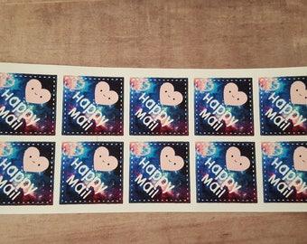 Galaxy Happy Mail Stickers
