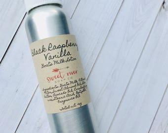 Black Raspberry Vanilla Goats Milk Lotion, Sweet River Soap Co, 4oz