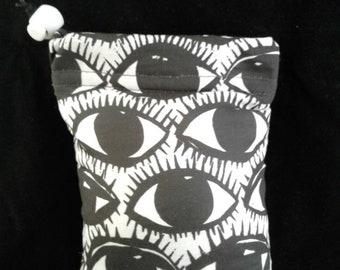 All Seeing Eye padded drawstring drawstring glass piece/pipe/cell phone/vape bag!