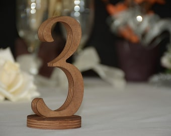 Rustic wedding table numbers, wedding decoration