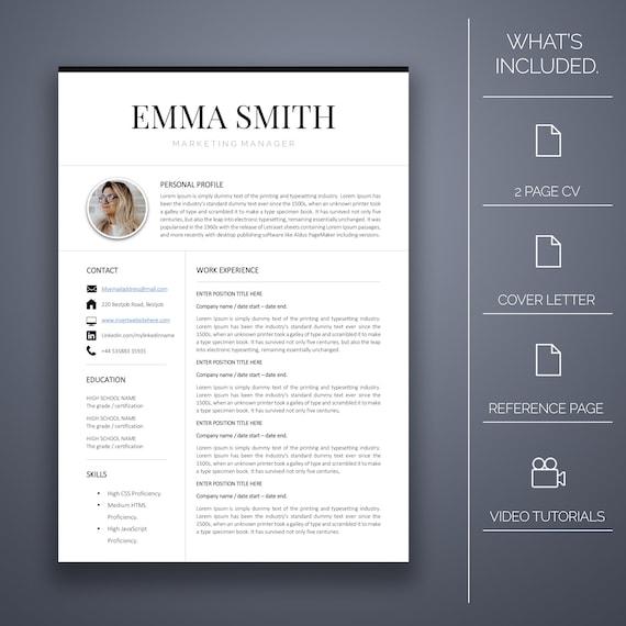 Lebenslauf Vorlage fünf-4 Seiten Anschreiben Microsoft Word