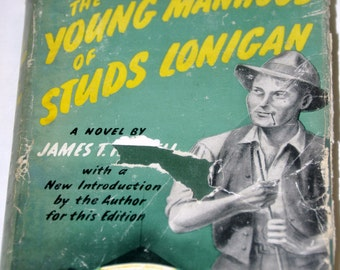 Old Books. The Young Manhood of Studs Lonigan by James T. Farrell. 1940s Fiction. Old Book. 75 Years. Literature. Pulp Fiction. 1940s Book.