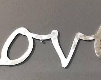 Love Sign Aluminum Script Home Wall Decor