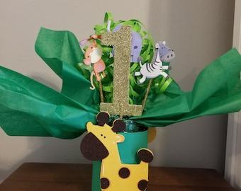 Safari Animal Birthday Centerpiece, Jungle Animals Birthday Centerpiece, Zoo Animal Birthday Party, Jungle Birthday Party Decorations