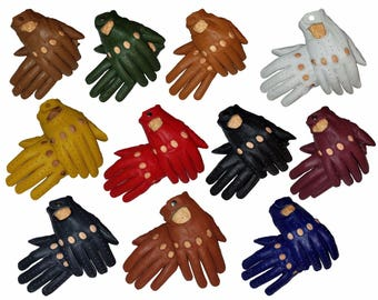 Men Genuine leather driving gloves dress Retro driving gloves fashion dressing gloves winter summer gloves all season gloves