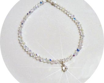 Bridal Anklet, Crystal Anklet, Rhinestone Charm, Sparkly Anklet, Wedding Jewelry, Bridal Accessories, Austrian Crystal Anklet