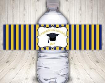 Graduation Labels, Water Bottle Labels, Graduation Stickers, Graduation Wraps, Self Stick Labels, Drink Labels, Waterproof Labels,