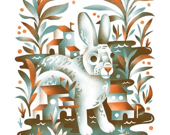 Swamp Rabbit - Archival Digital Print - 11x14 or 16x20