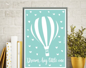 Poster quote baby, Baby illustration, Nursery art, Nursery art printable, Children poster, Art print, Baby gift, Quote baby, Dream big