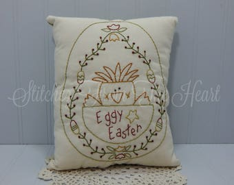 Easter Decorative Pillow - Spring Chick - Easter Eggs - Tulips - Easter Decor - Spring Decor