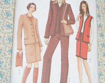 Vogue 7502 Misses / MissesPetite Jacket Vest Skirt and Pants Sewing Pattern - UNCUT - Size 14 16 18
