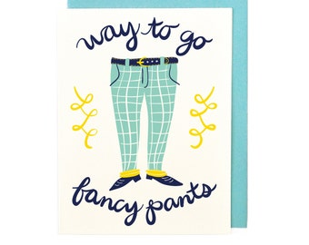 Fancy Pants Congratulations Card
