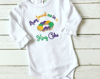 Mardi Gras King Cake Baby Bodysuit or Shirt