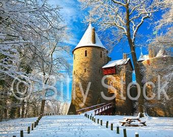 080 Castle Coch in the Snow, Wales, UK