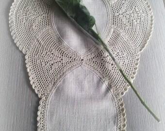 chemin de table crochet magie des fleurs(disponible sur commande)