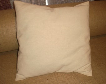 """Canvas Pillow Covers 1 DOZEN 16"""" or 18"""" blank 7oz. Canvas"""