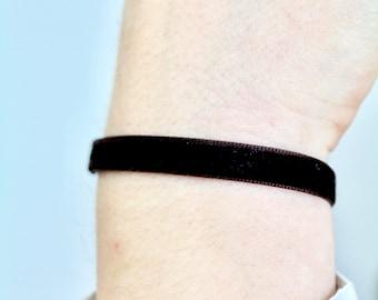 Velvet Brown Bracelet/Anklet - TinyLittlePiecesShop
