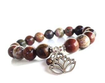 Lotus Bracelet, Namaste Jewelry, Yoga Jewelry, Yoga Bracelet, Christmas Gift, Stocking Stuffer Gift, Gifts For Women, Unique Gifts, Boho
