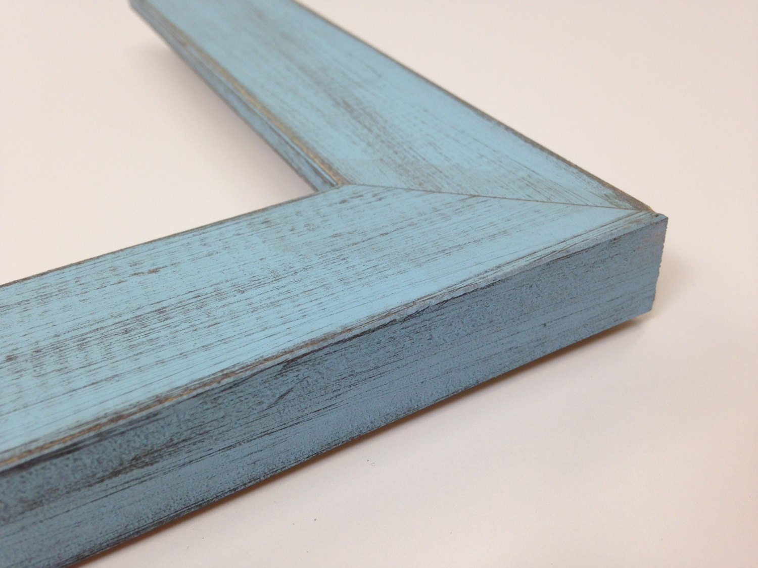 BABY BLUE Rustic Wood Picture Frame, Reclaimed Distressed Wood - All ...