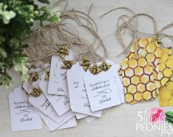 Favor Tags - Honey Jar Tags - Tags - Wedding Tags