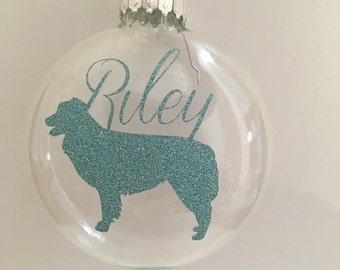 Personalized Glass Dog Christmas Ornaments, Personalized Pet Dog Christmas Ornaments, Personalized Gifts for Dog Lovers, Any Breed
