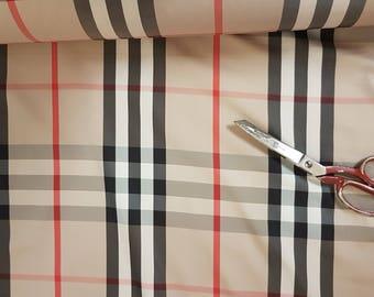 Original Burberry nova cotton tartan fabric  ,material ideal for rain coats and shirts
