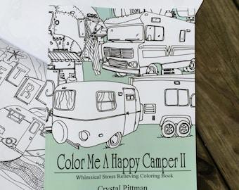 SALE - Coloring Book: Color Me A Happy Camper II - old version