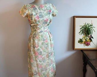 1950s Mardi Gras Sequin Wiggle Dress // Extra Small