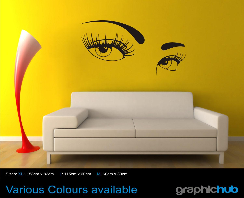 sexy eyes wall art sticker decal