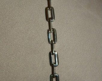 Father's Day, Men's Bracelet, Stainless Steel, and Black, Rectangular, Link Bracelet, Biker Bracelet, Rocker Bracelet, Cool Men's Bracelet
