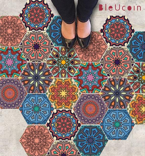 Encaustic marroquí azulejo de la pared del piso de la escalera