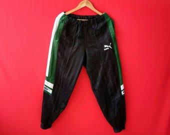 vintage puma sweatpants sports track pants rare original streetwear jogging athletic pants