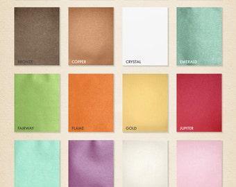 8 1/2 x 11 Cardstock- Metallic - Pick A Color - Quantity of 50