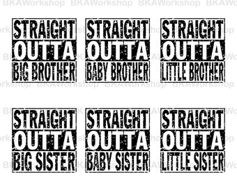 Distreesed Straight Outta svg - Distreesed Straight Outta brother, sister digital clipart for Design or more, files download svg, png, dxf