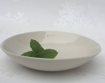 White Porcelain Bowl. Glazed Ceramic Bowl. Minimalist Dining. Simple. Home. Kitchen. FebbieDay Ceramics.