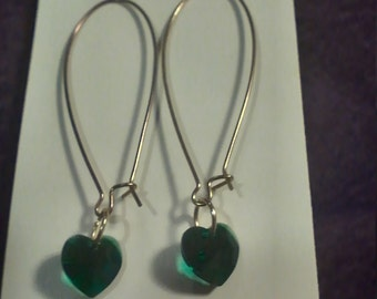 X-Large Kidney Wire and Crystal Earrings