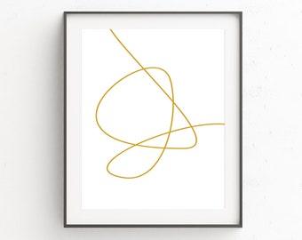 Minimalist Poster, Modern Wall Art, Minimalist Art, Abstract Wall Art, Gold Decor, Large Wall Art, Bedroom Wall Art, Minimalist Print