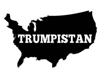 Hoodie Backwards States of Trumpistan Screen Print Sizes S-5XL