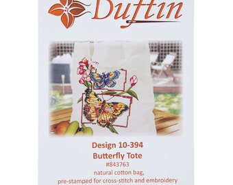 Duftin Butterfly Tote Needlework Kit