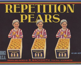 Repetition Pears Crate Label