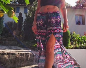 Split summer baggy pants - Tribal summer