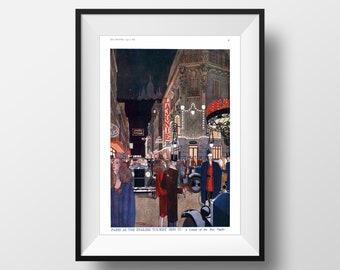 Art nouveau 1927 Vintage Magazine Print. Art nouveau wall art print. Paris poster. Art deco gift. Vintage Wallhanging Decor. Large size