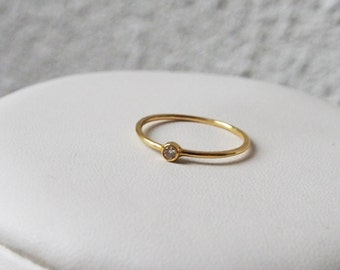 ring gold 750 & diamond 0.05 Cts